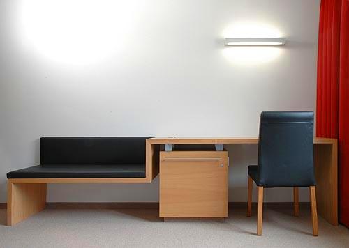 Hotelzimmer Balance im Hotel Zugrücke Grenzau Schreibtisch Heiderich Architekten Lünen
