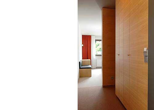Hotelzimmer Balance im Hotel Zugrücke Grenzau Eingang Heiderich Architekten Lünen