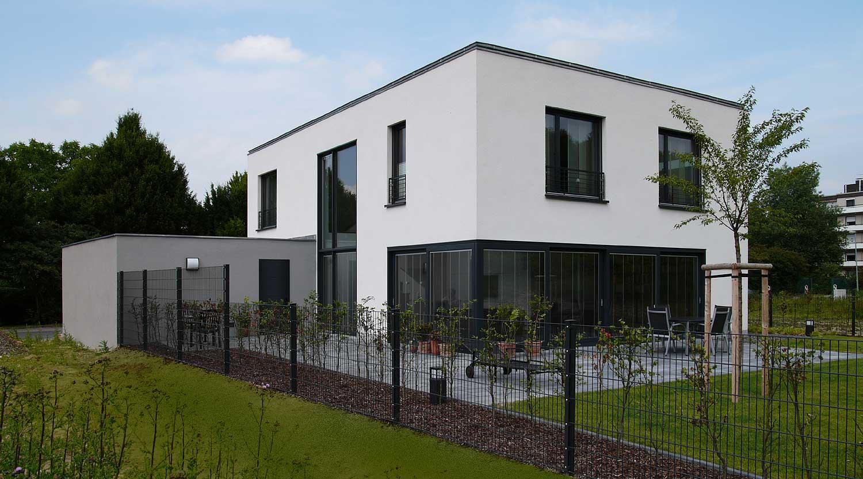 Haus B Herne Gartenansicht Heiderich Architekten Lünen