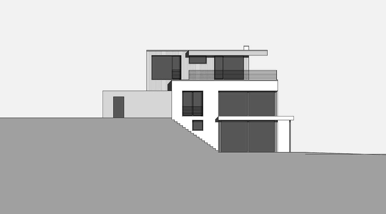 Haus S in Hagen Ansicht von Westen Heiderich Architekten Lünen