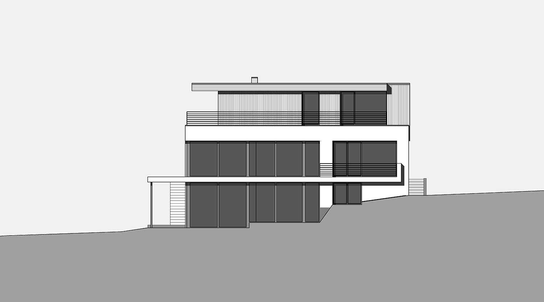 Haus S in Hagen Ansicht von Süden Heiderich Architekten Lünen