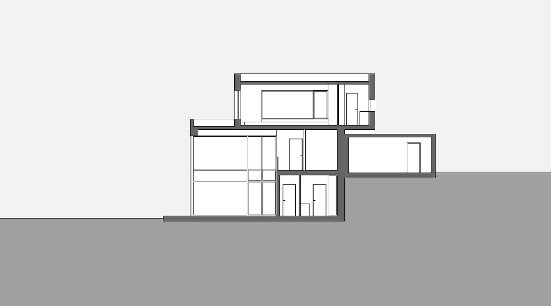 Haus S in Hagen Schnitt Heiderich Architekten Lünen