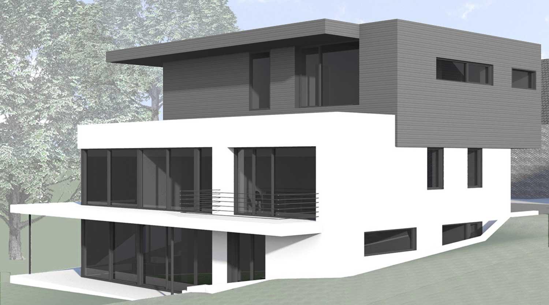 Haus S in Hagen Blick von Südosten Heiderich Architekten Lünen