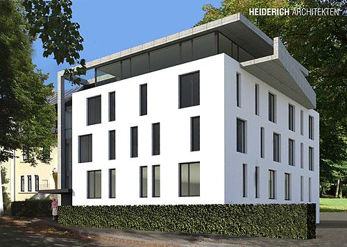 Hospiz Lünen Perspektive von Nordwesten Heiderich Architekten Lünen
