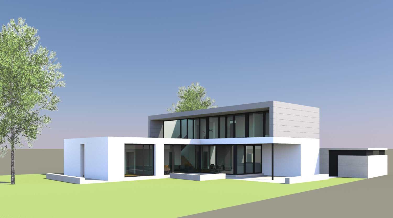 Einfamilienhaus HB Dortmund Ahlenberg Perspektive Heiderich Architekten Lünen