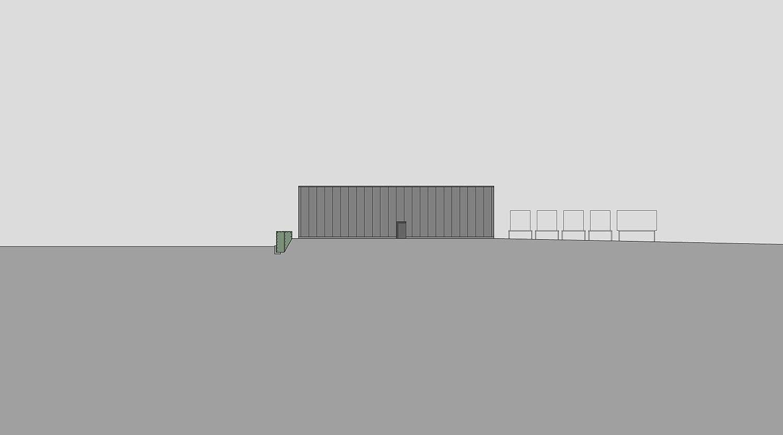 Heiderich Architekten, Lünen, Probe- und Logistikzentrum WLT, Castrop-Rauxel, Ansicht Nord