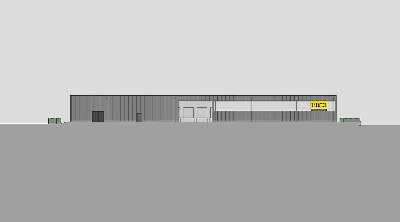 Heiderich Architekten, Lünen, Probe- und Logistikzentrum WLT, Castrop-Rauxel, Ansicht Ost