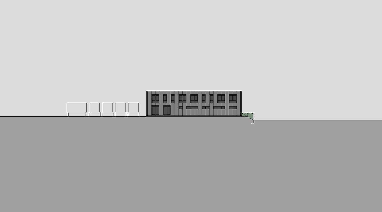 Heiderich Architekten, Lünen, Probe- und Logistikzentrum WLT, Castrop-Rauxel, Ansicht Süd