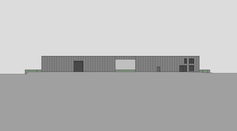 Heiderich Architekten, Lünen, Probe- und Logistikzentrum WLT, Castrop-Rauxel, Ansicht West