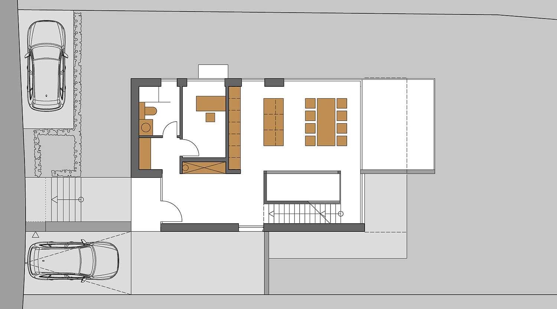 Heiderich Architekten, Lünen, Haus K, Dortmund, Grundriss EG