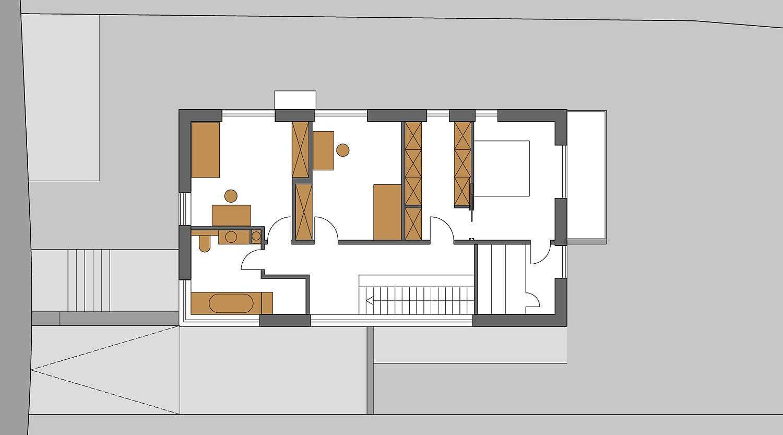Heiderich Architekten, Lünen, Haus K, Dortmund, Grundriss OG