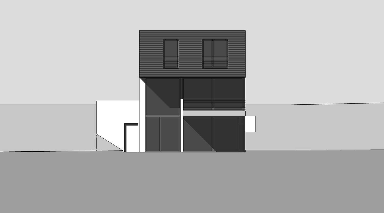 Heiderich Architekten, Lünen, Haus K, Dortmund, Ansicht West