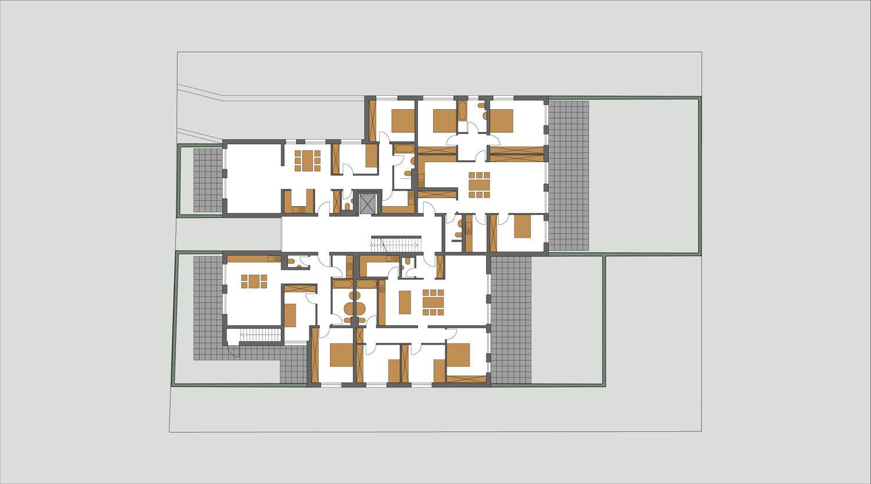 Mehrfamilienhaus Lünen, Erdgeschoss, Heiderich Architekten Lünen