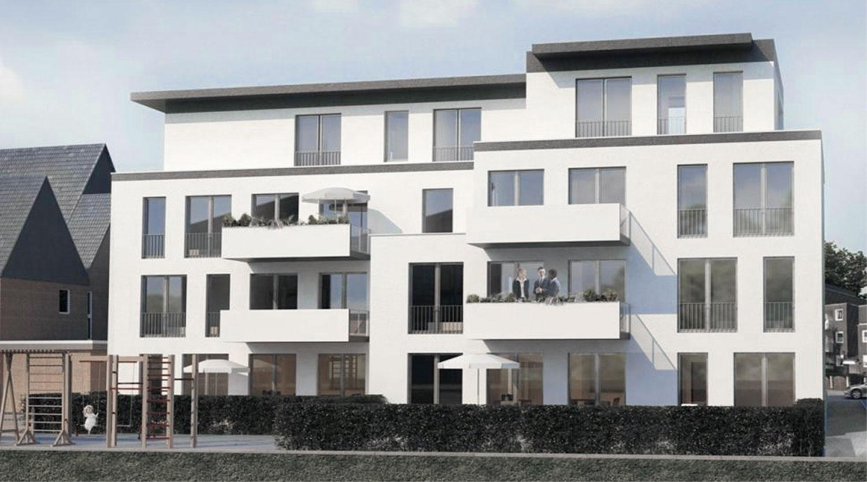 Mehrfamilienhaus Lünen, Gartenansicht, Heiderich Architekten Lünen