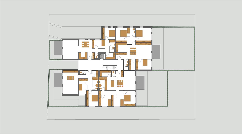 Mehrfamilienhaus Lünen, 1. Obergeschoss, Heiderich Architekten Lünen