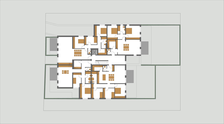 Mehrfamilienhaus Lünen, 2. Obergeschoss, Heiderich Architekten Lünen