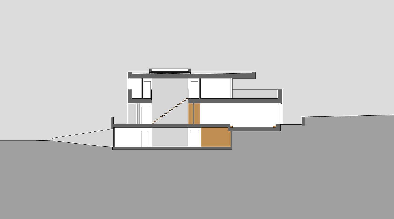 Heiderich Architekten, Lünen, Haus B, Dortmund, Längsschnitt