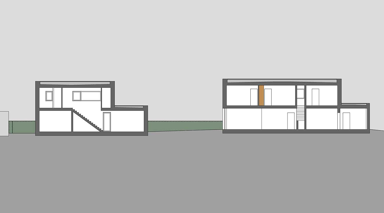 Heiderich Architekten, Lünen, Häuser B, Lünen, Schnitt JS