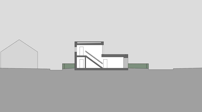 Heiderich Architekten, Lünen, Häuser B, Lünen, Schnitt J