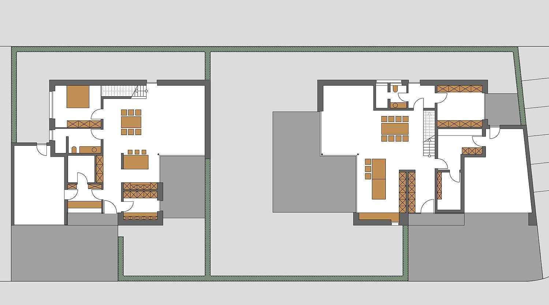 Heiderich Architekten, Lünen, Häuser B, Lünen, Grundriss EG