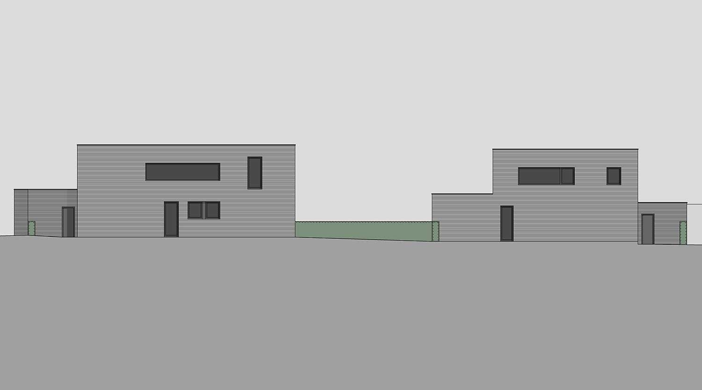 Heiderich Architekten, Lünen, Häuser B, Lünen, Ansicht Nord