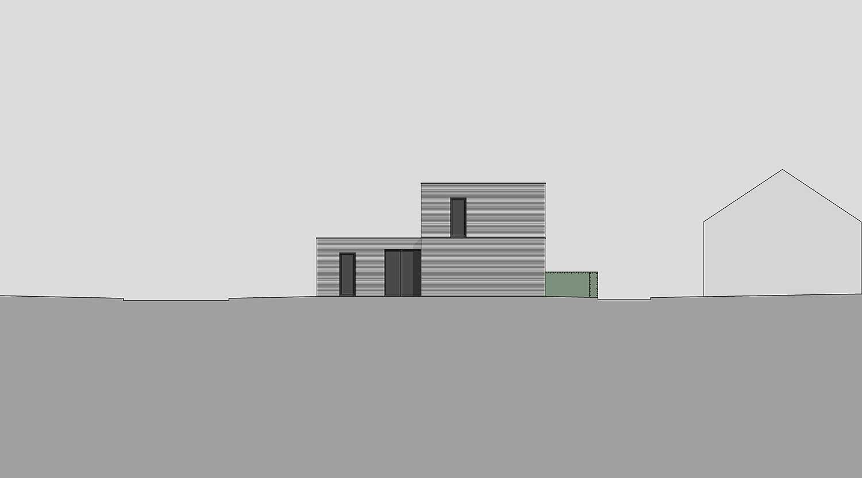 Heiderich Architekten, Lünen, Häuser B, Lünen, Ansicht Ost S