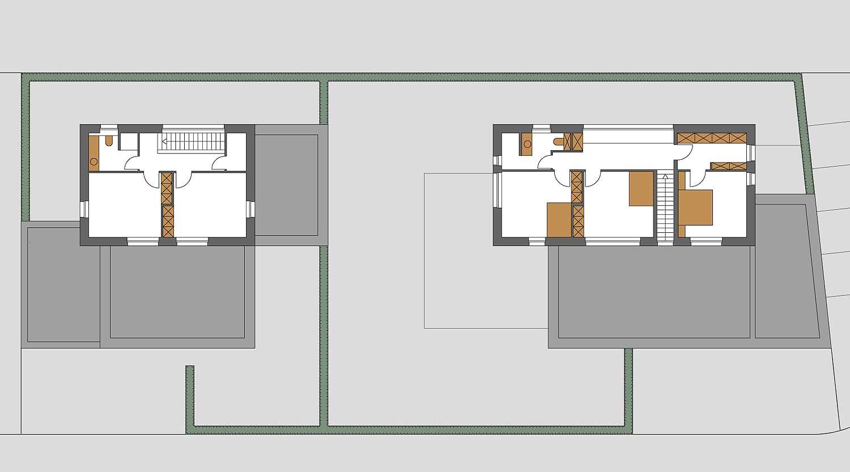Heiderich Architekten, Lünen, Häuser B, Lünen, Grundriss OG