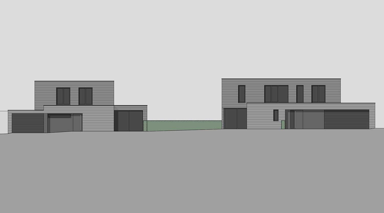 Heiderich Architekten, Lünen, Häuser B, Lünen, Ansicht Süd