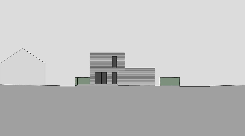 Heiderich Architekten, Lünen, Häuser B, Lünen, Ansicht West S