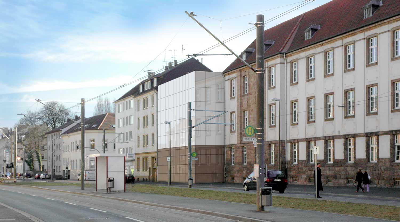 Quartiersgaragen Dortmund Kaiserviertel Perspektive Hamburger Straße Heiderich Architekten Lünen