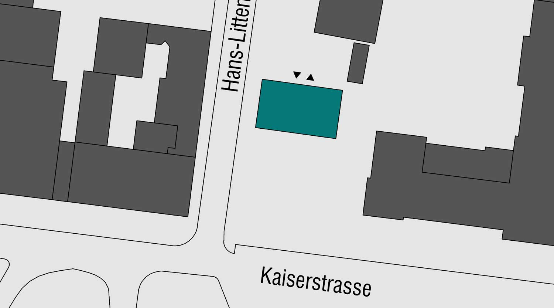 Quartiersgaragen Dortmund Kaiserviertel Lageplan Hans Litten Straße Heiderich Architekten Lünen