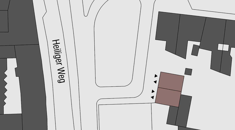 Quartiersgaragen Dortmund Kaiserviertel Lageplan Heiliger Weg Heiderich Architekten Lünen