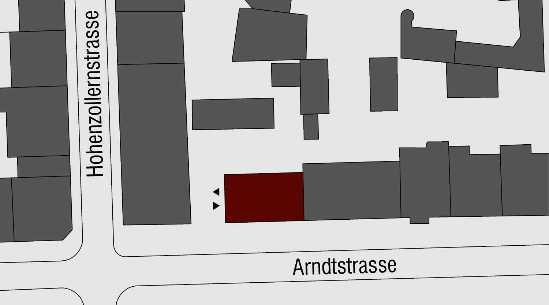Quartiersgaragen Dortmund Kaiserviertel Lageplan Arndtstraße  Heiderich Architekten Lünen